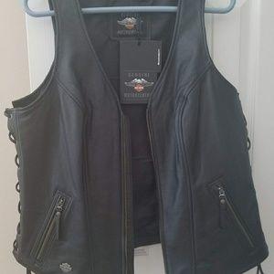 Harley Davidson leather women's vest
